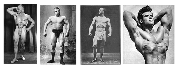 old-time strongmen